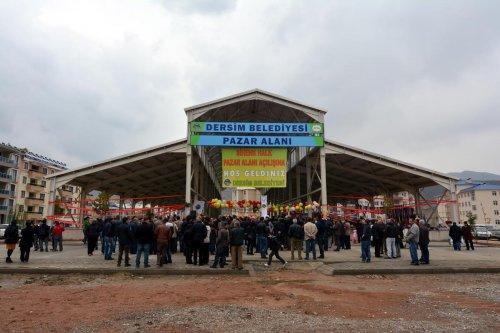 Tunceli'nin ilk halk pazarı alanı hizmete açıldı