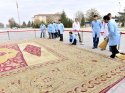 Tarihi halının restorasyonu Sultanhanı'nda yapıldı