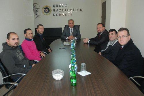 Çorlu Kaymakamı Kılıç'tan Çorlu Gazeteciler Derneği'ne ziyaret