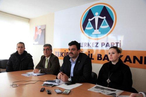 Merkez Partisi Tekirdağ İl Başkanlığı basın toplantısı