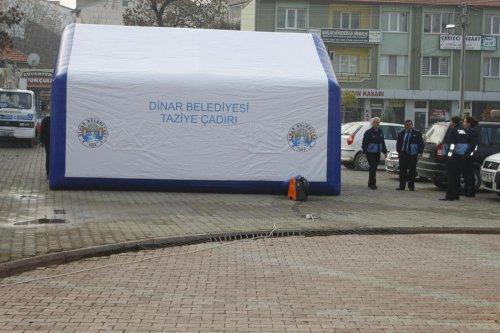 Dinar Belediyesinden cenaze hizmeti