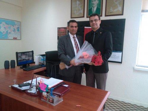 Dinar'da okul müdürleri görevlerine başladı