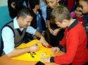 Eski milli futbolcu Penbe, öğrencilerle bir araya geldi