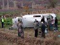 Minibüs şarampole devrildi: 1 ölü, 3 yaralı