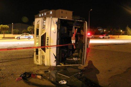 Denizli'de trafik kazası: 20 yaralı