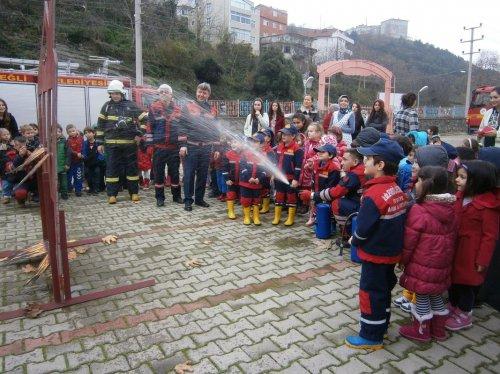 Ereğli'de anaokulunda yangın tatbikatı