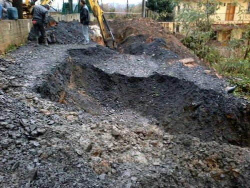 Kandilli'de toprak kayması