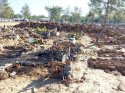 Sağanakta mezarlar tahrip oldu