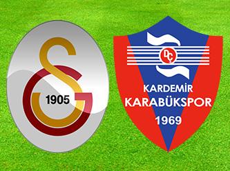Galatasaray - Kardemir Karabükspor maçı özeti!