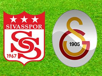 Sivasspor - Galatasaray maçı özeti!