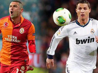 Burak Yılmaz - Ronaldo çarpışması