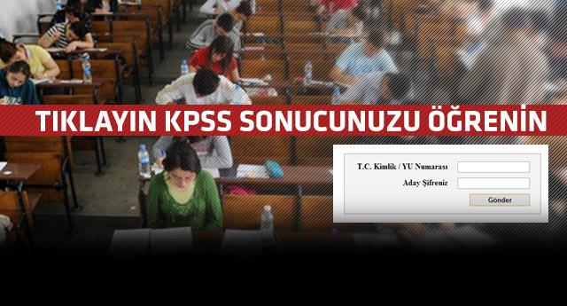2013 KPSS Sonuçları Açıklandı Tıkla Öğren