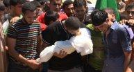 Hamas liderinin eşi ve çocuğu toprağa veridi
