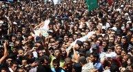 Hamas'ın 3 komutanı için cenaze töreni