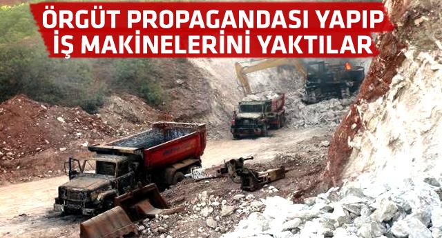 PKK AKP'li başkanın şantiyesini bastı