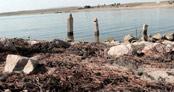 Baraj suları çekilince köyün kalıntıları ortaya çıktı