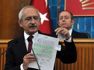 Kılıçdaroğlu IŞİD'e giden silahların belgesini gösterdi