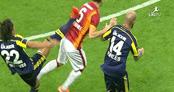 Galatasaray Fenerbahçe maçına damga vuran hareket