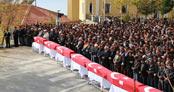 Ermenek'te 8 madenci için toplu cenaze töreni düzenlendi