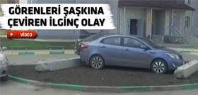 Yanlış yere park eden komşuya görülmemiş ceza!