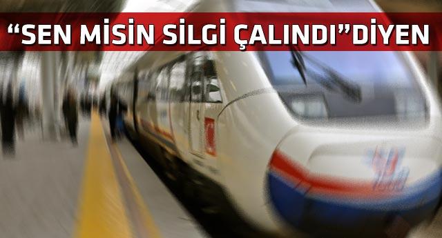 Erdoğan ve Davutoğlu'nun katıldığı YHT açılışında 'hırsızlık komedisi'