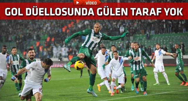 Bursa'da gözlerin pasını silen futbol şöleni