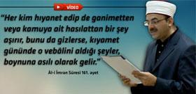 Osman Şimşek'in okuduğu hutbede 'yolsuzluk' ele alındı