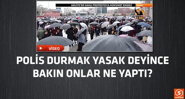 Yağmura rağmen demokrasi nöbeti bitmiyor