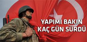 Sınıra dev Türk bayrağı