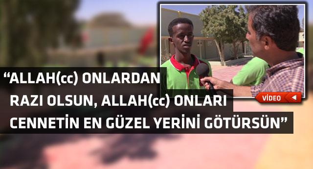 Somaliland'lı gencin fedakar Türk insanına duası...