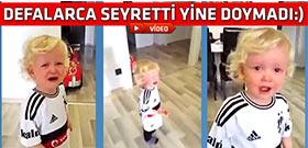 Beşiktaş'lı minik taraftar Demba Ba için hıçkıra hıçkıra ağladı