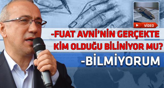 Ulaştırma Bakanı da Fuat Avni kurmacasını deşifre etti