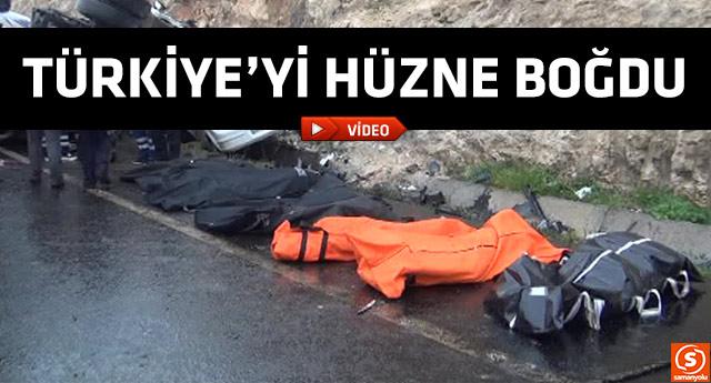 Katliam gibi kaza:13 ölü!