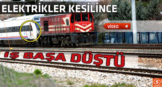 Yüksek hızlı treni kara tren kurtardı
