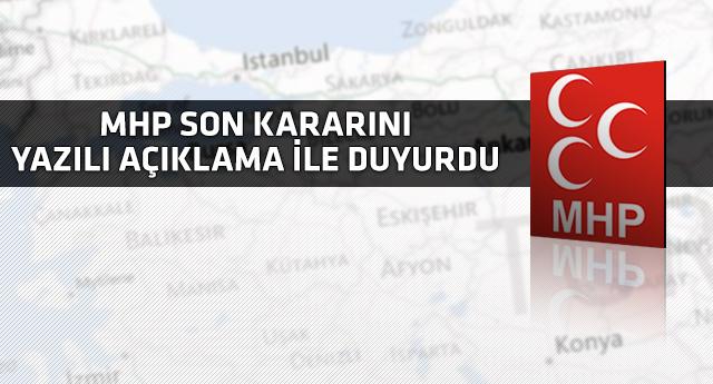 MHP seçim ittifakında kararı verdi