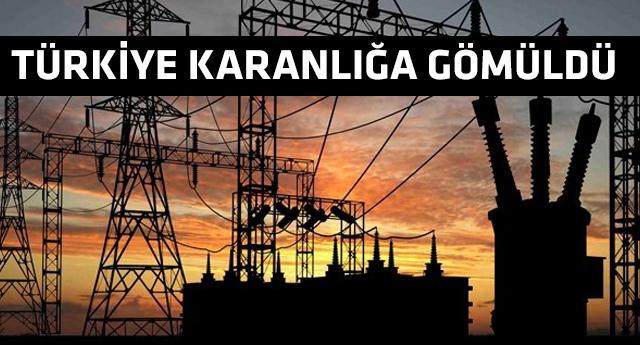 Türkiye'de elektrik sistemi çöktü