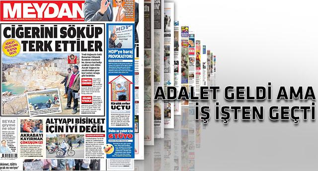 Günün gazetelerinden dikkat çeken manşetler...