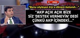 Demirtaş'tan canlı yayında bomba iddia!