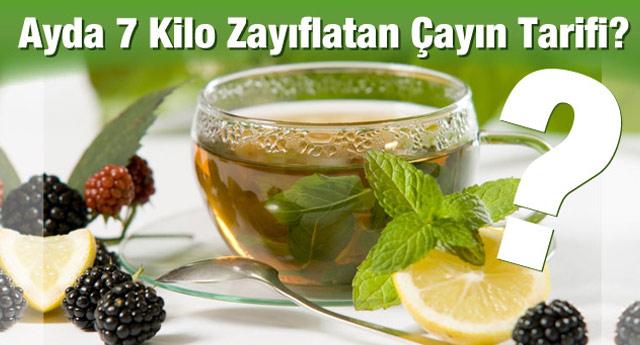 Ayda 7 kilo zayıflatan çayın tarifi - ADV