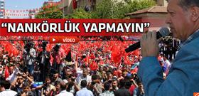 Erdoğan'dan taşeron işçilere fırça