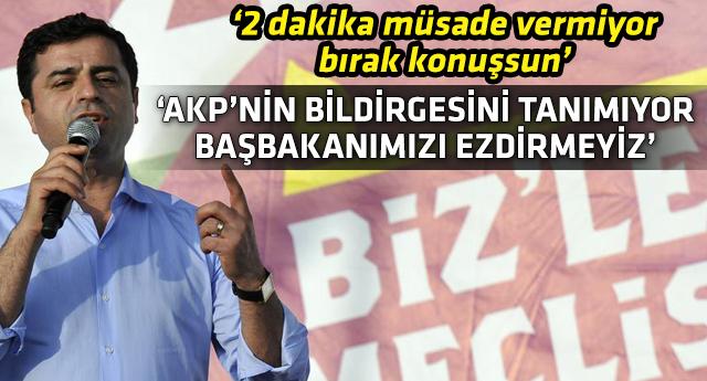Selahattin Demirtaş'tan, Erdoğan'a Davutoğlu tepkisi