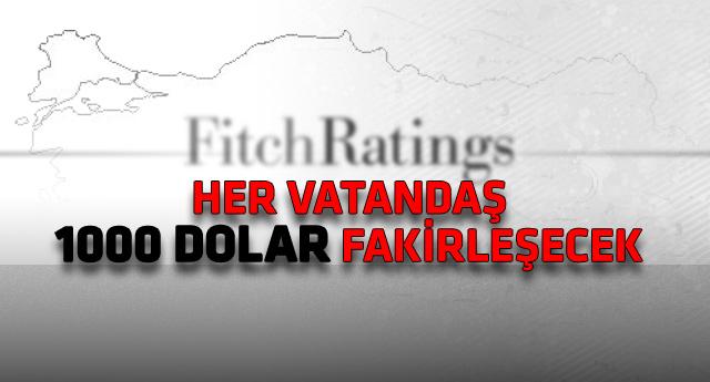 Fitch'ten Türkiye'yi ilgilendiren çarpıcı rapor!