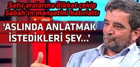 Türköne, Erdoğan'ın 'biat edecekler' sözünün ne anlama geldiğini anlattı