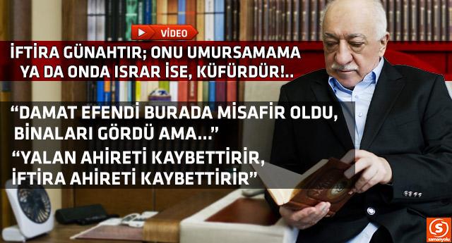 Fethullah Gülen Hocaefendi çok önemli hususları ele aldı ve uyardı