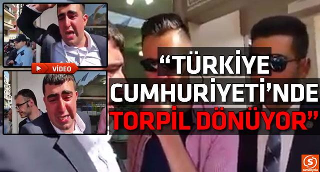 Davutoğlu mitinginde engelli vatandaşın 'torpil' isyanı
