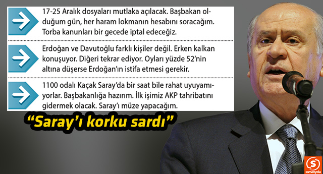 MHP Lideri Bahçeli'den bomba Saray çıkışı!