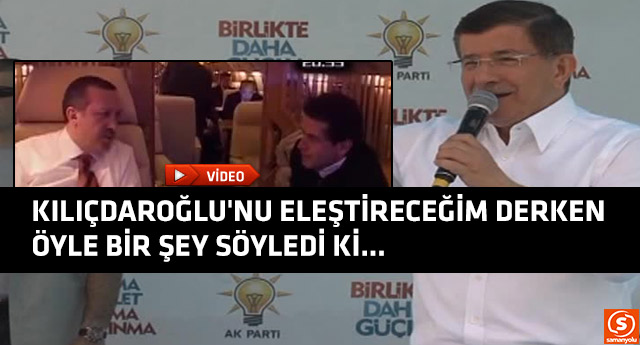 Ahmet Davutoğlu'ndan tarihi gaf!