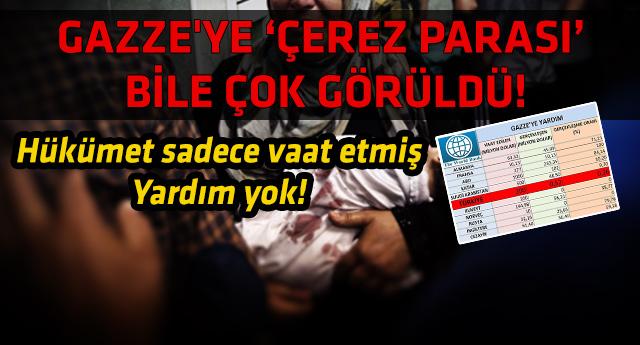 Ankara'nın Gazze'ye yaptığı yardım miktarı şok etti!