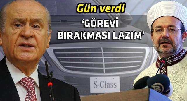 Bahçeli'den DİB Başkanı Görmez'e çağrı