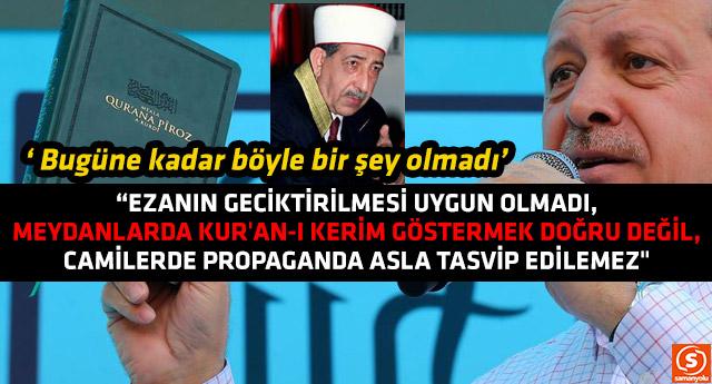 Diyanet İşleri eski Başkanı'ndan ezan, Kur'an-ı Kerim ve cami çıkışı